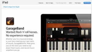 Garage Band for iPad2